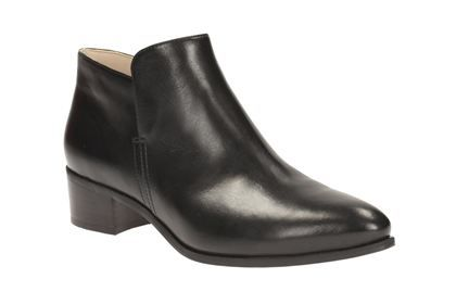 Clarks Womens Casual Clarks Marlina Ramble Leather Boots In Black