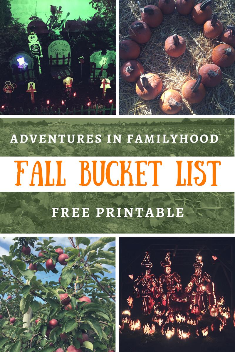Fall Bucket List for Families Autumn activities