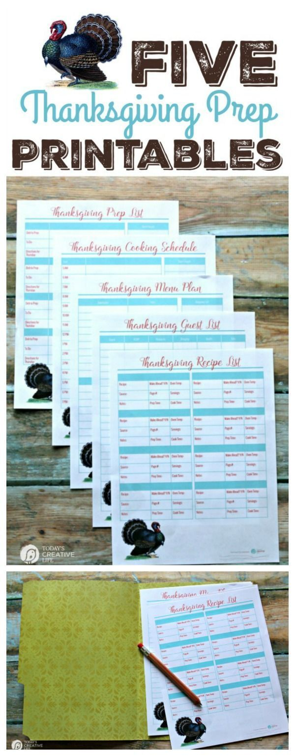 Thanksgiving Prep Printables   Thanksgiving, Free printable and Holidays