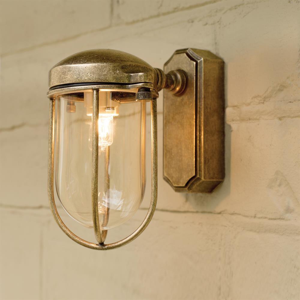 Brass Clipper Wall Lantern | Small Outdoor Light | Exterior | Jim ...