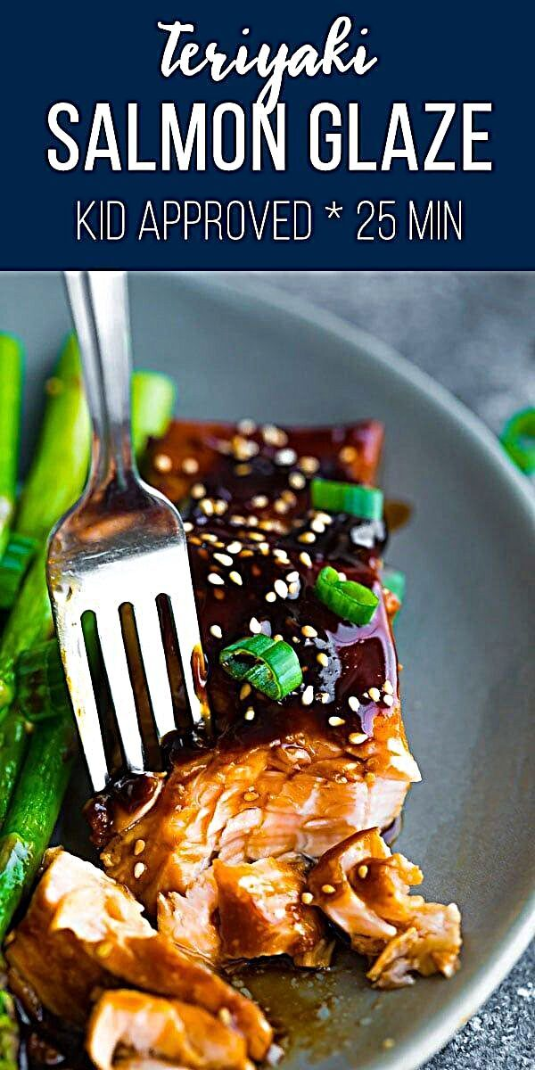 Teriyaki salmon glaze that is sweet, sticky, and kid-friendly! No need to marinate means this