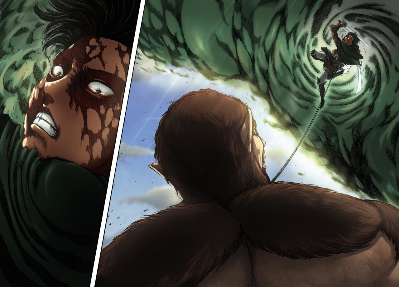 Levi Vs Beast Titan Attack On Titan Season Attack On Titan Attack On Titan Levi