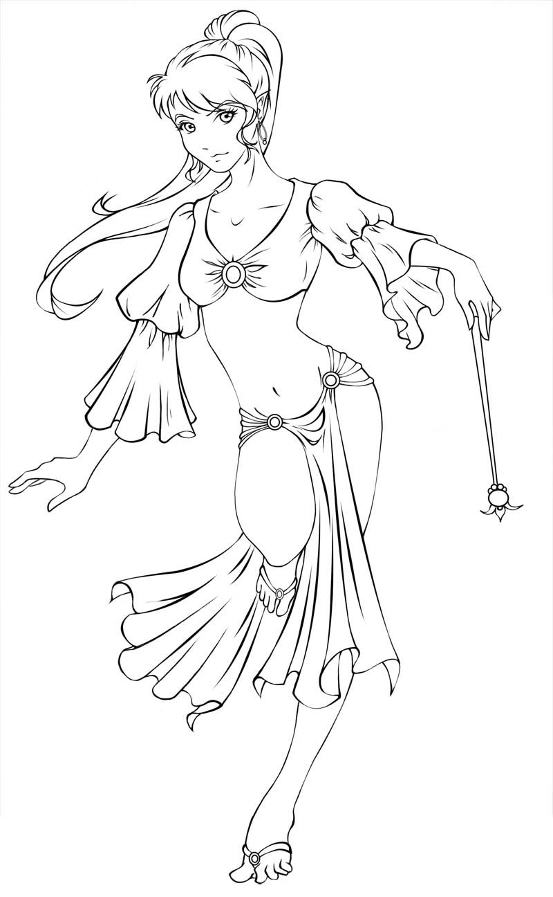 Dancing Genie LINEART by Lomelindi88.deviantart.com on @deviantART ...