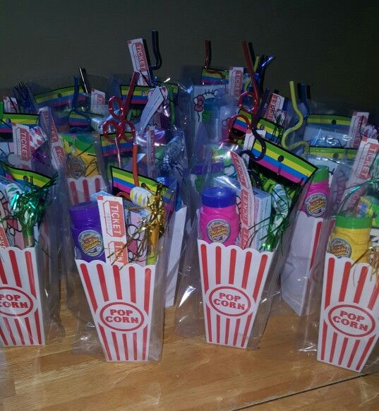 Movie Theater Party Favors For Ava S Bday Movie Theatre Birthday Party Movie Birthday Party Movie Theater Party