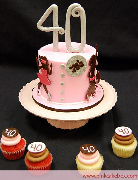 49th Birthday Cake With Matching Cupcakes With Images Cupcake