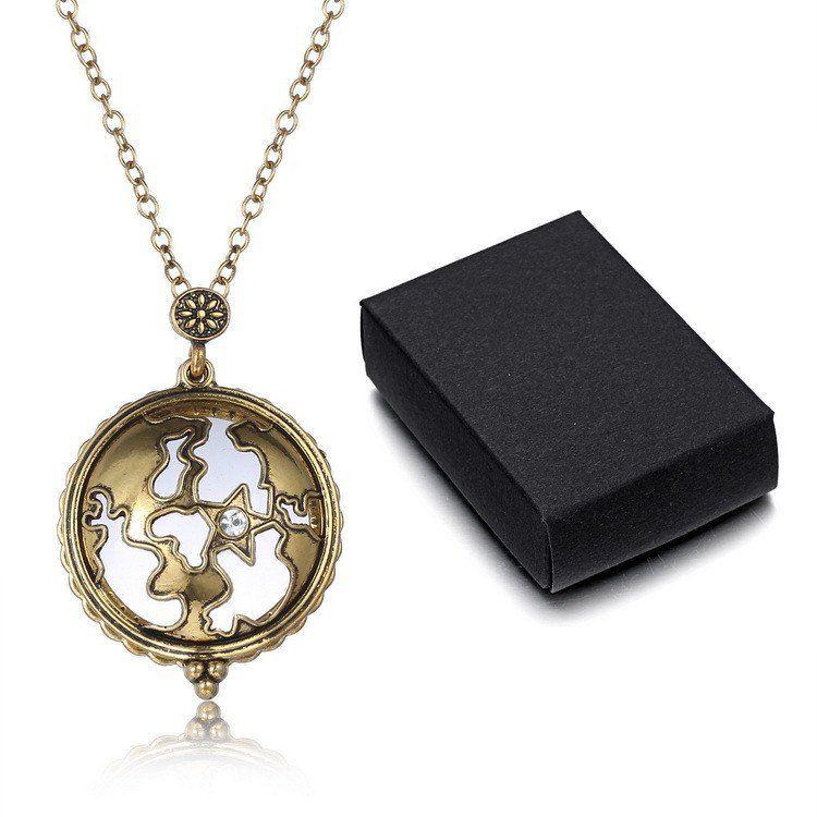 Necklace - Vintage Magnifying Glass Golden Necklace