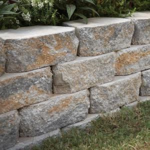 Pavestone 4 In X 11 75 In X 6 75 In Yukon Concrete Retaining Wall Block 81150 The Home Depot Concrete Retaining Walls Landscaping Retaining Walls Retaining Wall