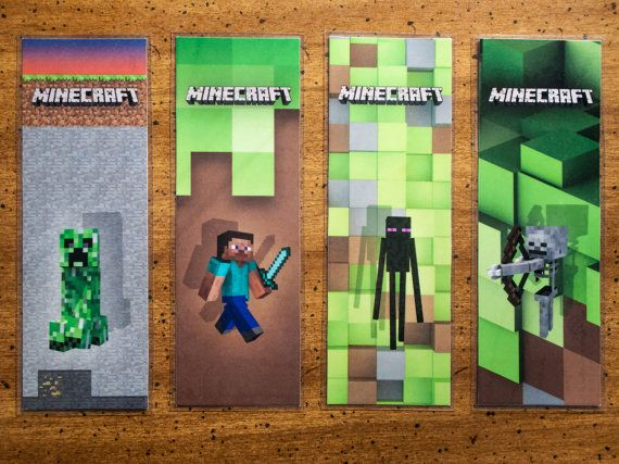 Shocking image throughout minecraft bookmarks printable