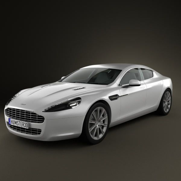 3D Model Of Aston Martin Rapide 2010