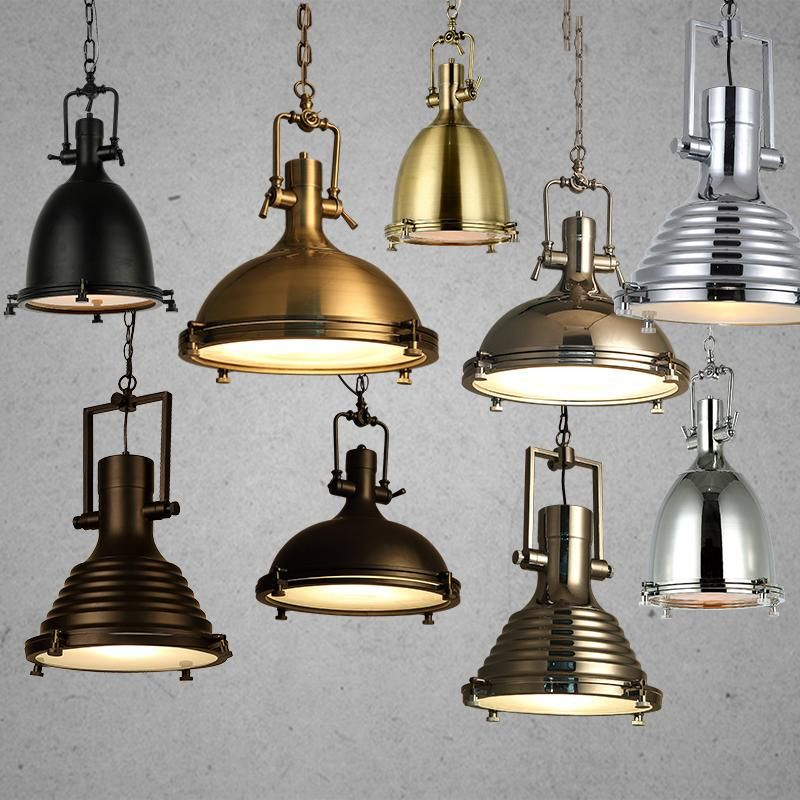Modern Retro Industrial Loft Pendant Light Vincent Chrome Country Rustic Pendant Lamp Fixture Lighting E27 For Cafe Parlor #pendantlighting