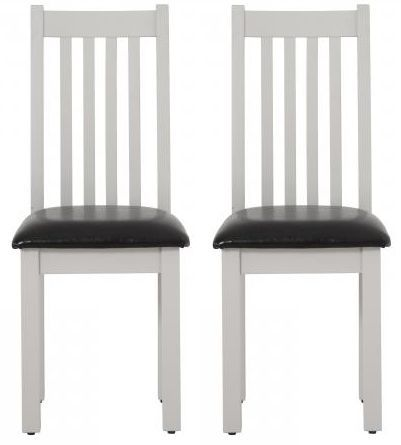 Vancouver Compact Light Grey Dining Chair With Bi Cast Leather