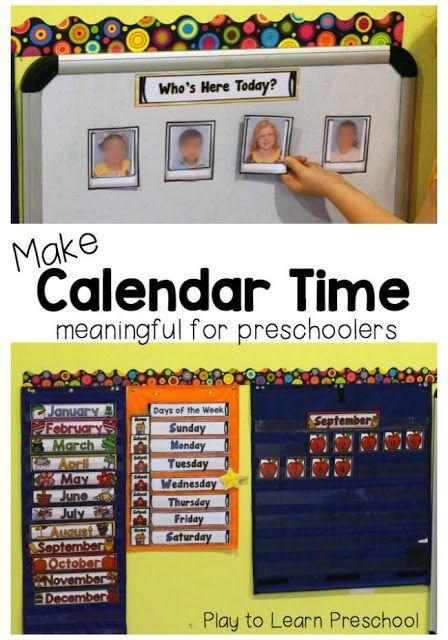 Calendar Time by Play to Learn Preschool PRESCHOOL! Pinterest