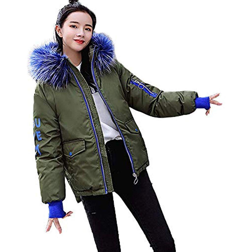 Womens Faux Fur Outwear Winter Warm Parka Short Slim Coat Jacket Thicken Outwear