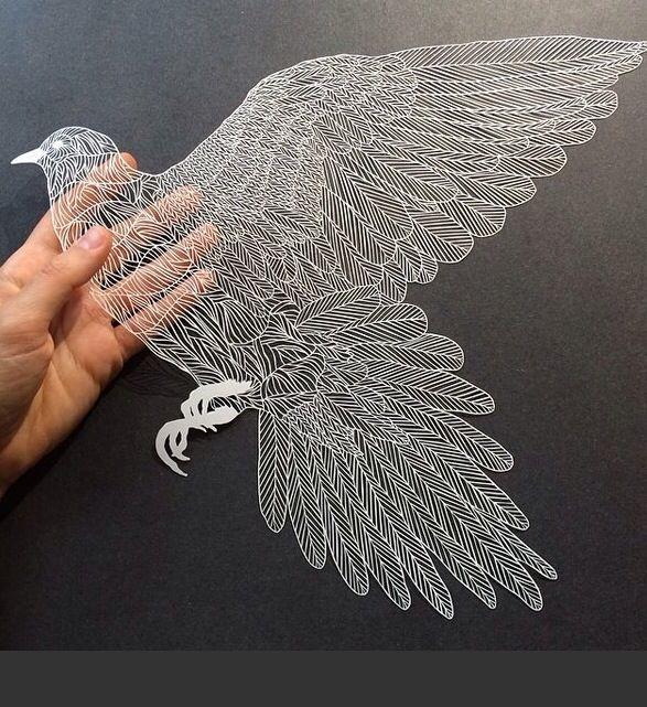 Paper art as seen in Juxtapoz.