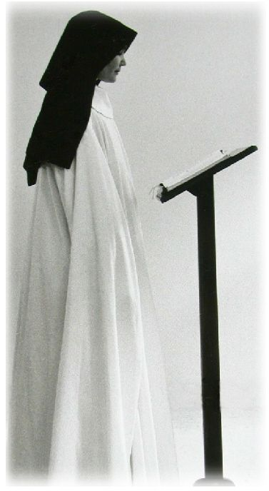 Cistercian nun. I never realized that the order had consecrated women.