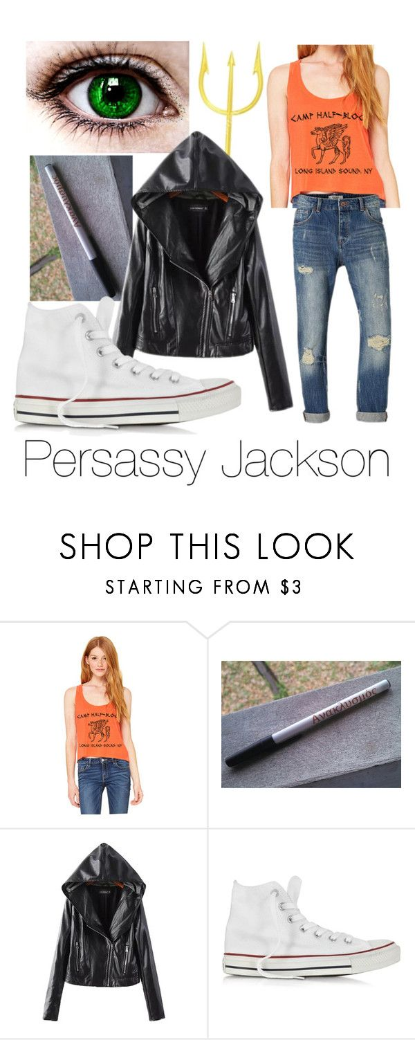 """Oh how I love me my persassy"" by gr8expectations ❤ liked on Polyvore featuring MANGO and Converse"