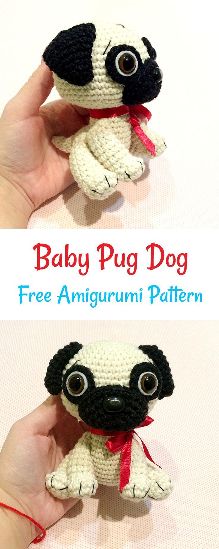 Free crochet baby pug dog pattern #crochet #amigurumi | crochet toys ...