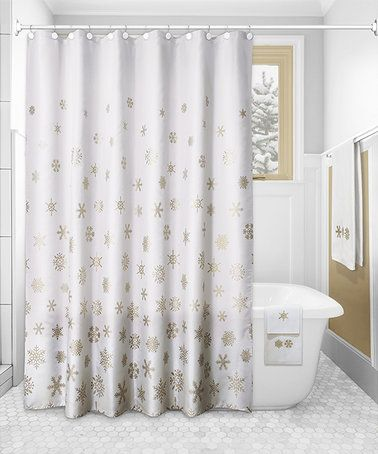 Love This Snowflakes Shower Curtain Set On Zulily Zulilyfinds Shower Curtain Sets Snowflake Shower Shower Curtain