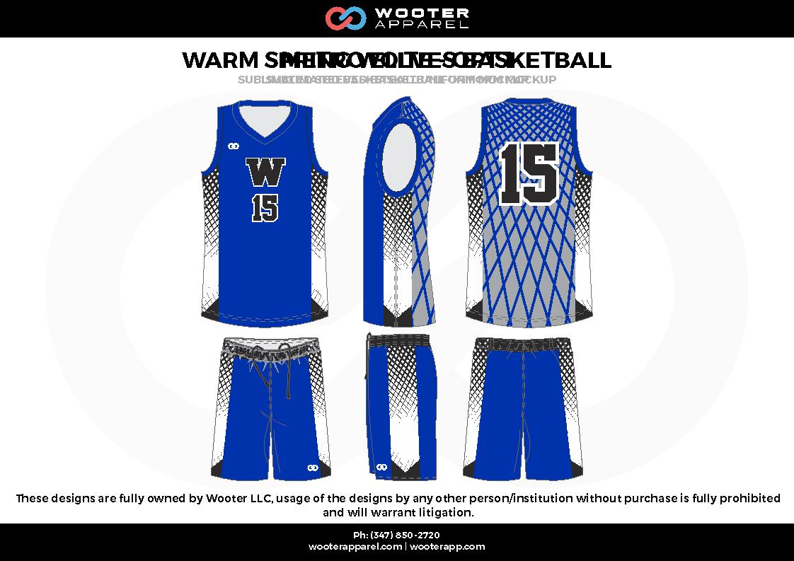Warm Sublimated Basketball Blue Grey White Black Custom Basketball Uniforms Jers Basketball Uniforms Custom Basketball Uniforms Basketball Uniforms Design