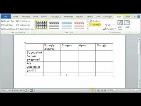 How To Make A Likert Scale In Word  Using Microsoft Word