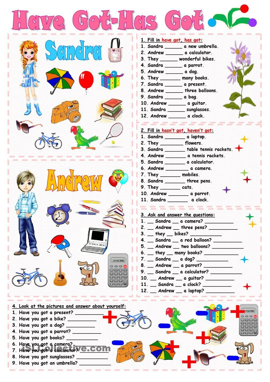 Have Got Has Got Worksheets Activities Pinterest Gram Tica Imprimibles Y Idiomas