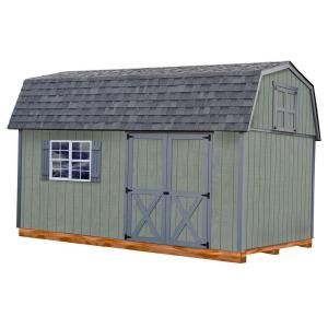 Best Barns Meadowbrook 10 Ft X 12 Ft Wood Storage Shed Kit With Floor Including 4 X 4 Runners Meadbrook1012df The Home Depot Storage Shed Kits Wood Storage Sheds Shed Kits
