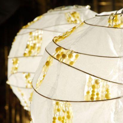 Štýlové tienidlo na lampu