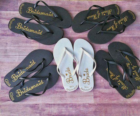 2e08c136917b38 Bridesmaids gift ideas personalized flip flops- bridal party flip flops- bridesmaid  flip flops
