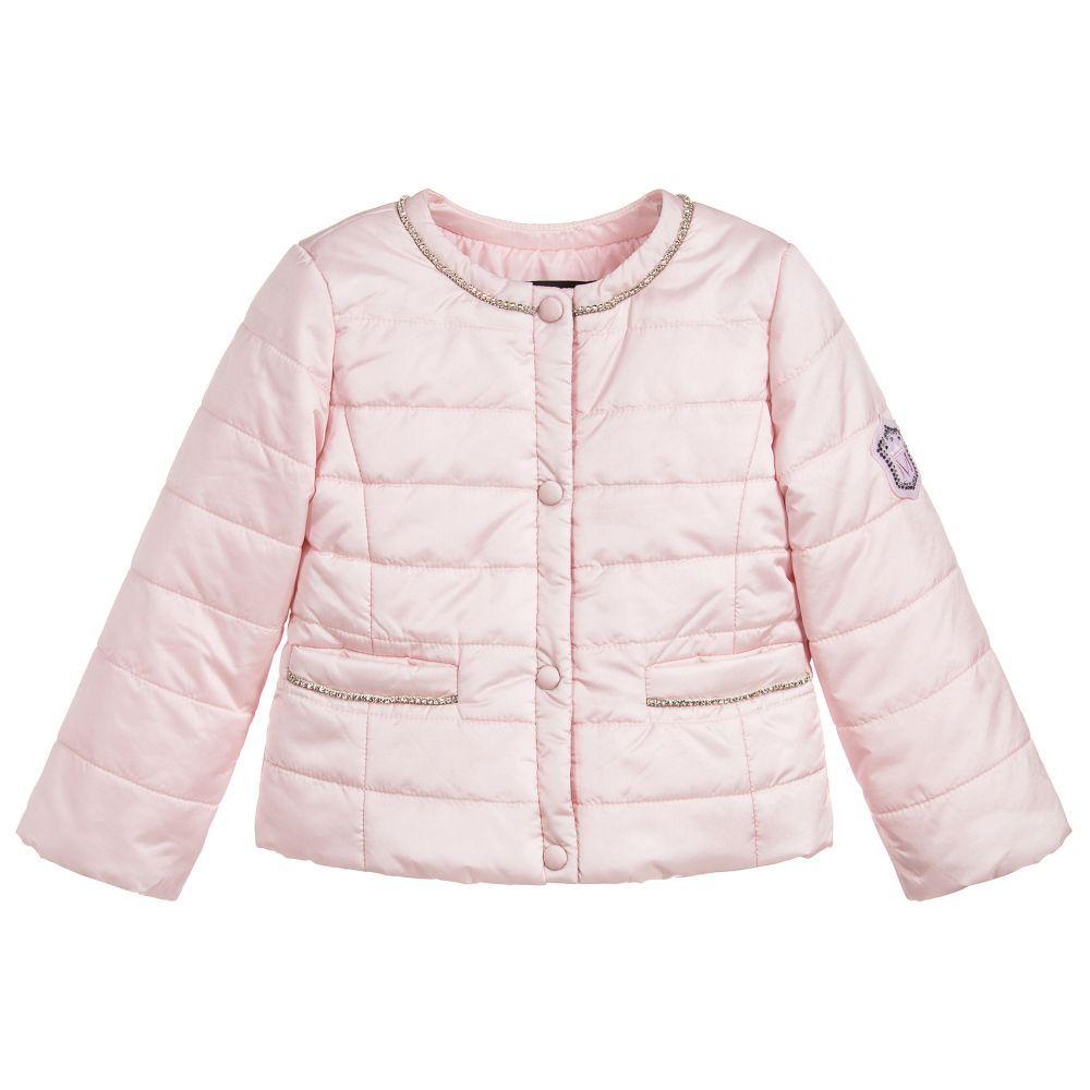 Monnalisa Girls Pink Puffer Jacket At Childrensalon Com Pink Puffer Jacket Jackets Puffer Jackets [ 1000 x 1000 Pixel ]