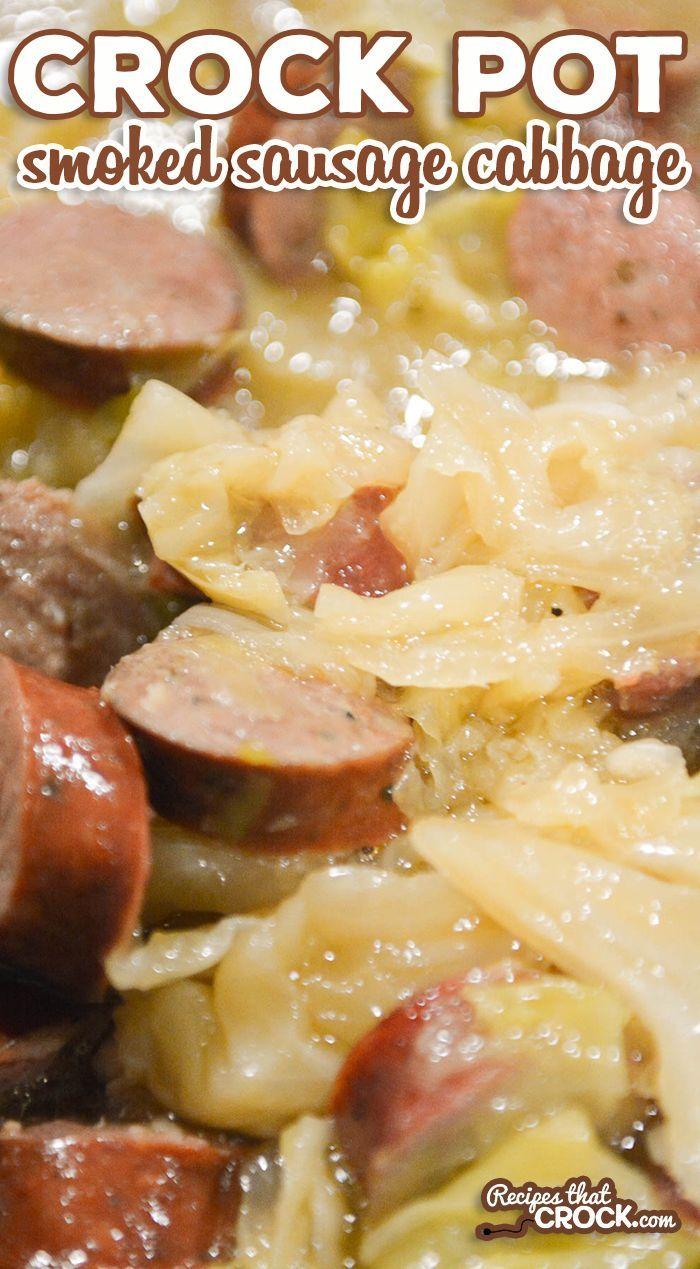 Crock Pot Smoked Sausage Cabbage (Low Carb) - Recipes That Crock!