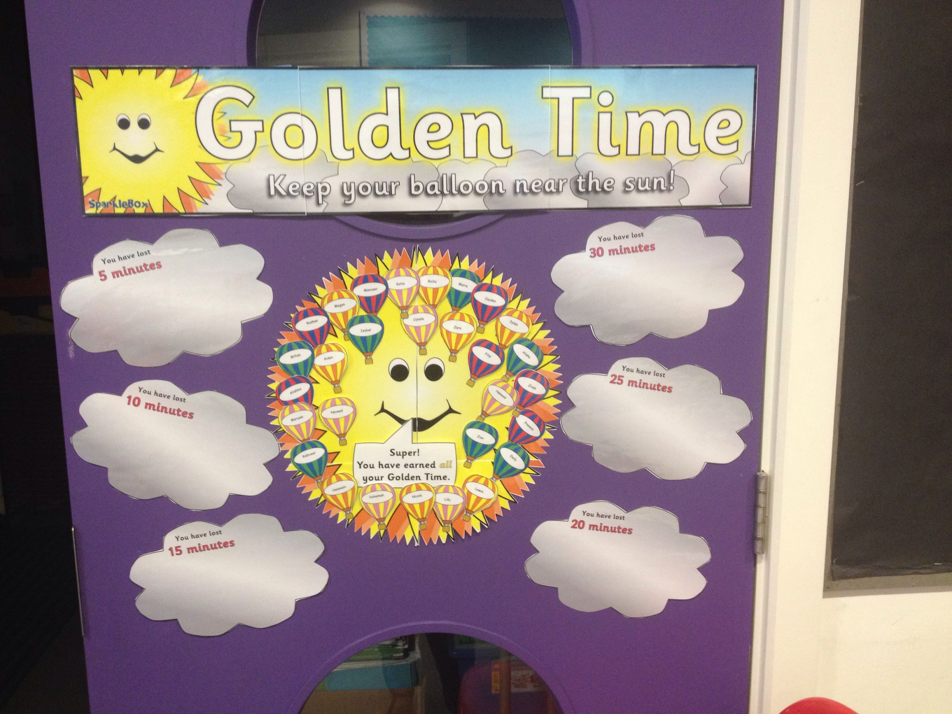 Great Golden Time Chart From Sparkle Box Golden Time Classroom Displays Teaching Displays [ 2448 x 3264 Pixel ]