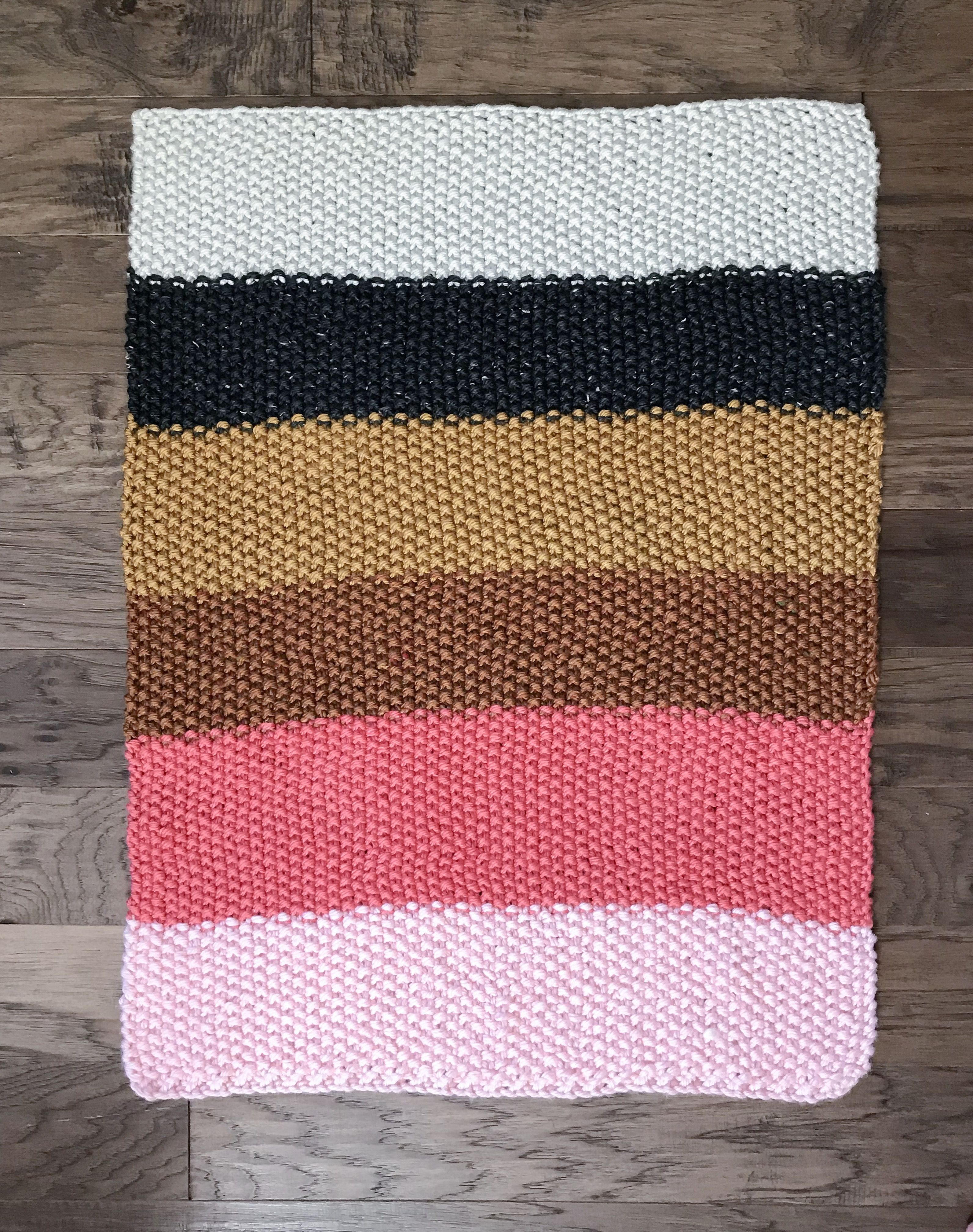 Quick and Easy Fall Seed Stitch Knit Throw or Baby Blanket – Free ...