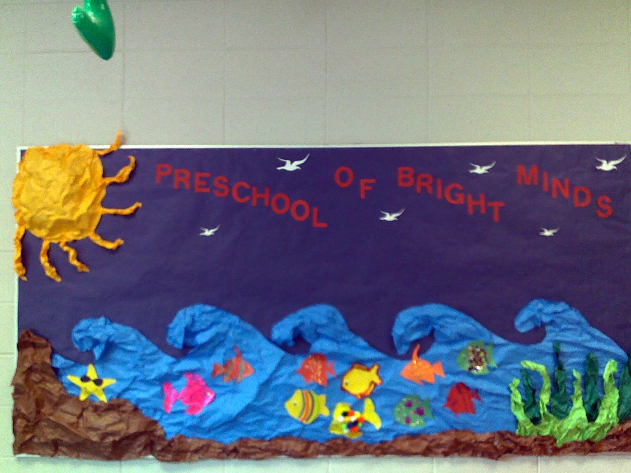 The Ocean Themed Bulletin Board I Created Diy Crafts
