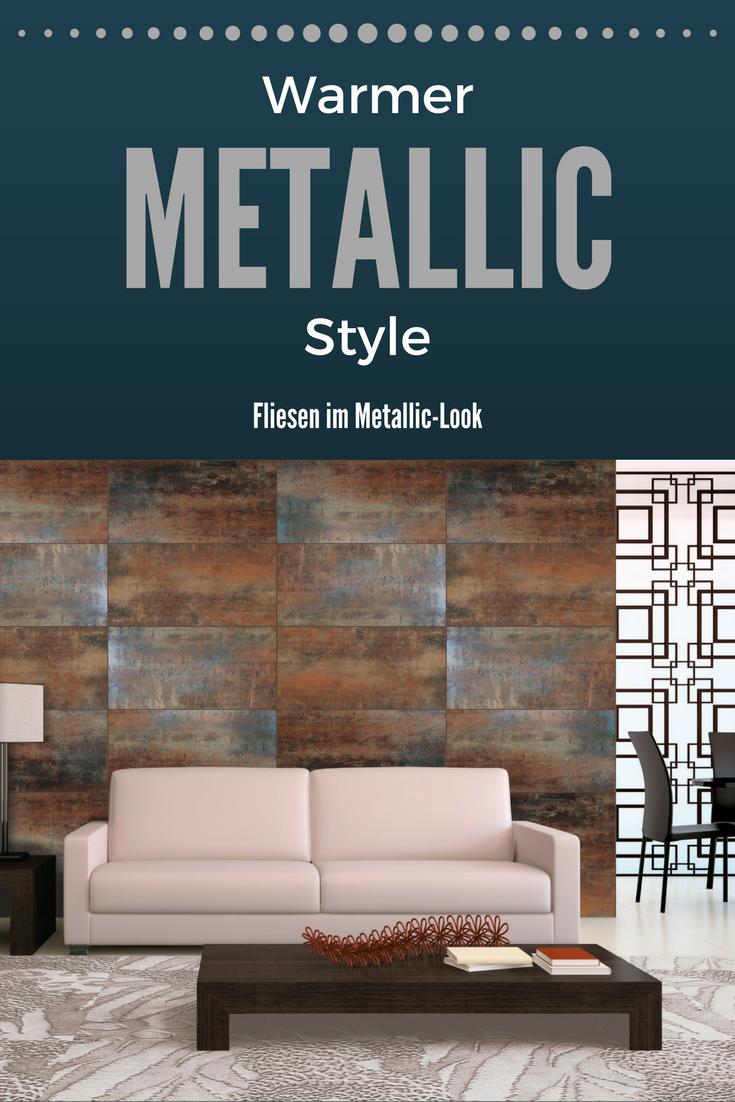 Fliese Metallic Optik Rost Gold 60x60 Metallica Wohnzimmer Ideen