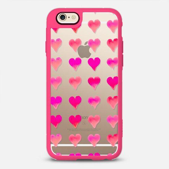 LOVE HEARTS by Monika Strigel - Pink & Clear New Standard | @casetify