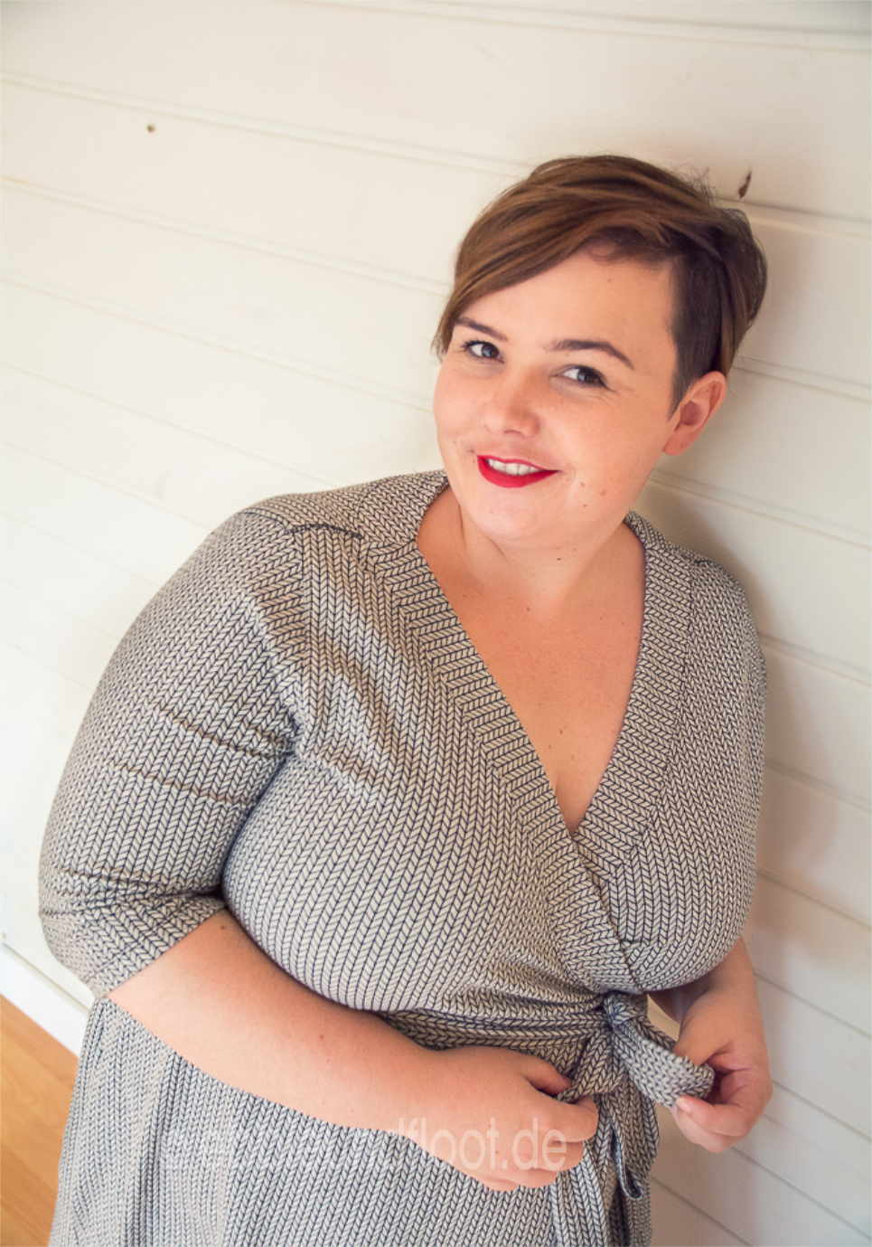Photo of Plus size pattern: wrap dress – a basic dress for every figure type