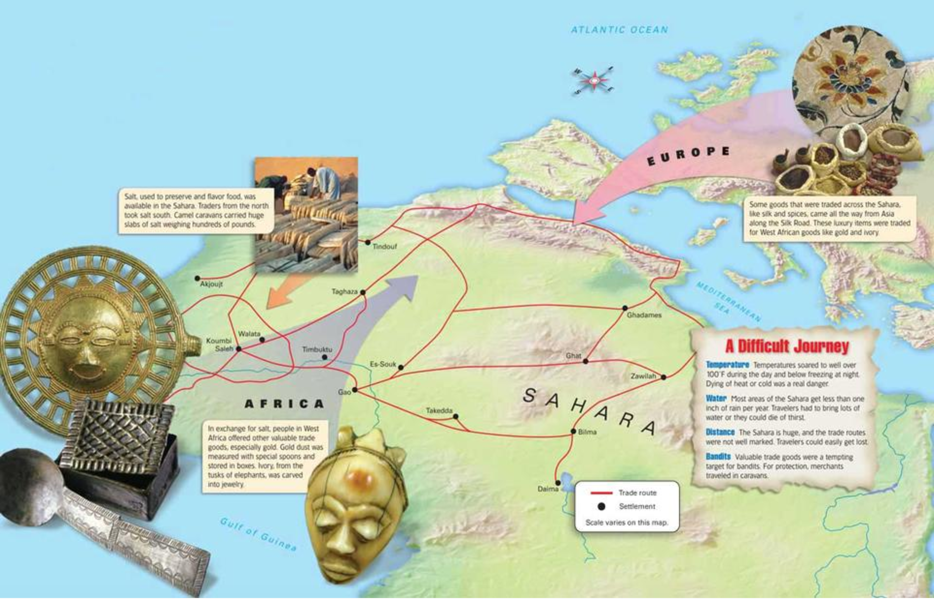 Ghana Empire trade routes | Bantu Maps