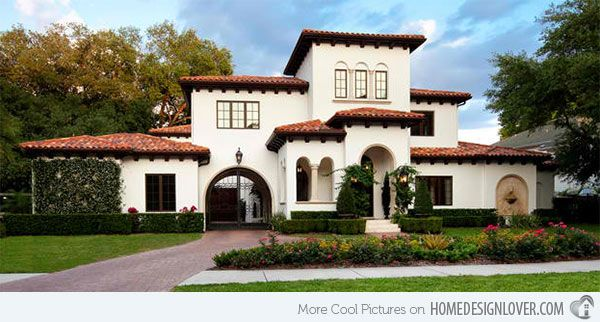 15 Sophisticated And Classy Mediterranean House Designs Home Design Lover Mediterranean House Designs Mediterranean Homes Exterior Modern Mediterranean Homes