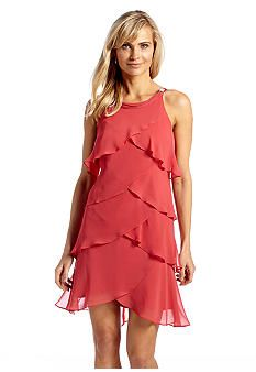 SL Fashions Chiffon Tulip Tiered Dress  Belk  $80 sale 1/18/14