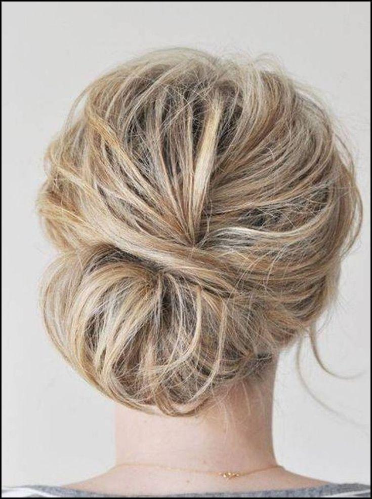 Lose einfache Hochsteckfrisuren für mittleres Haar ...
