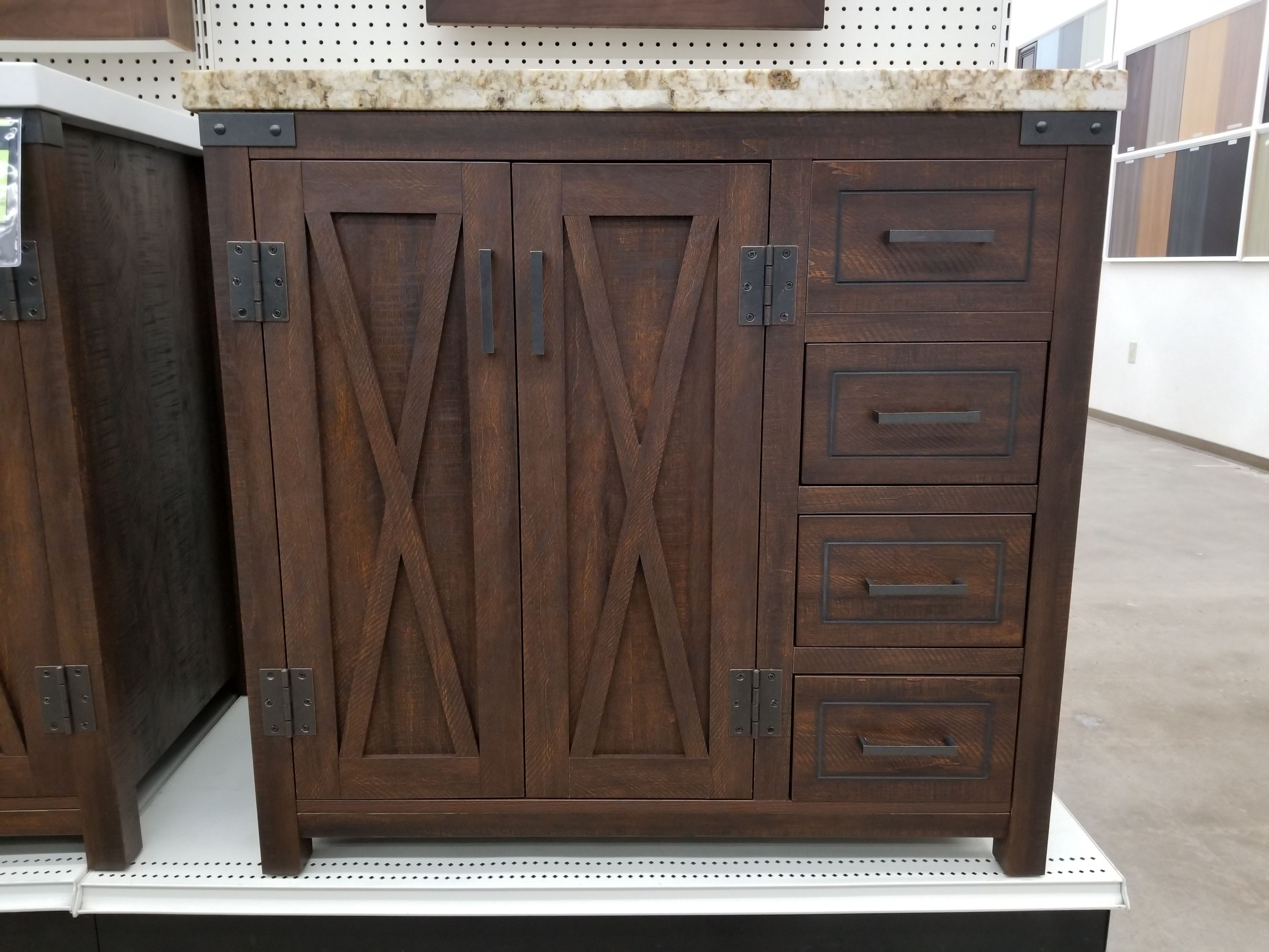 Santa Fe Antique Brown Vanity Closeout Builders Surplus Wholesale Kitchen And Bathroom Cabinets In Los Angeles California Kitchen Cabinets In Bathroom Vanity Antiques