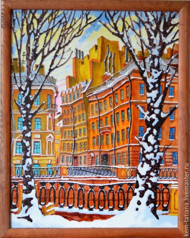 Купить Волшебный Санкт-Петербург - разноцветный, стекло ...