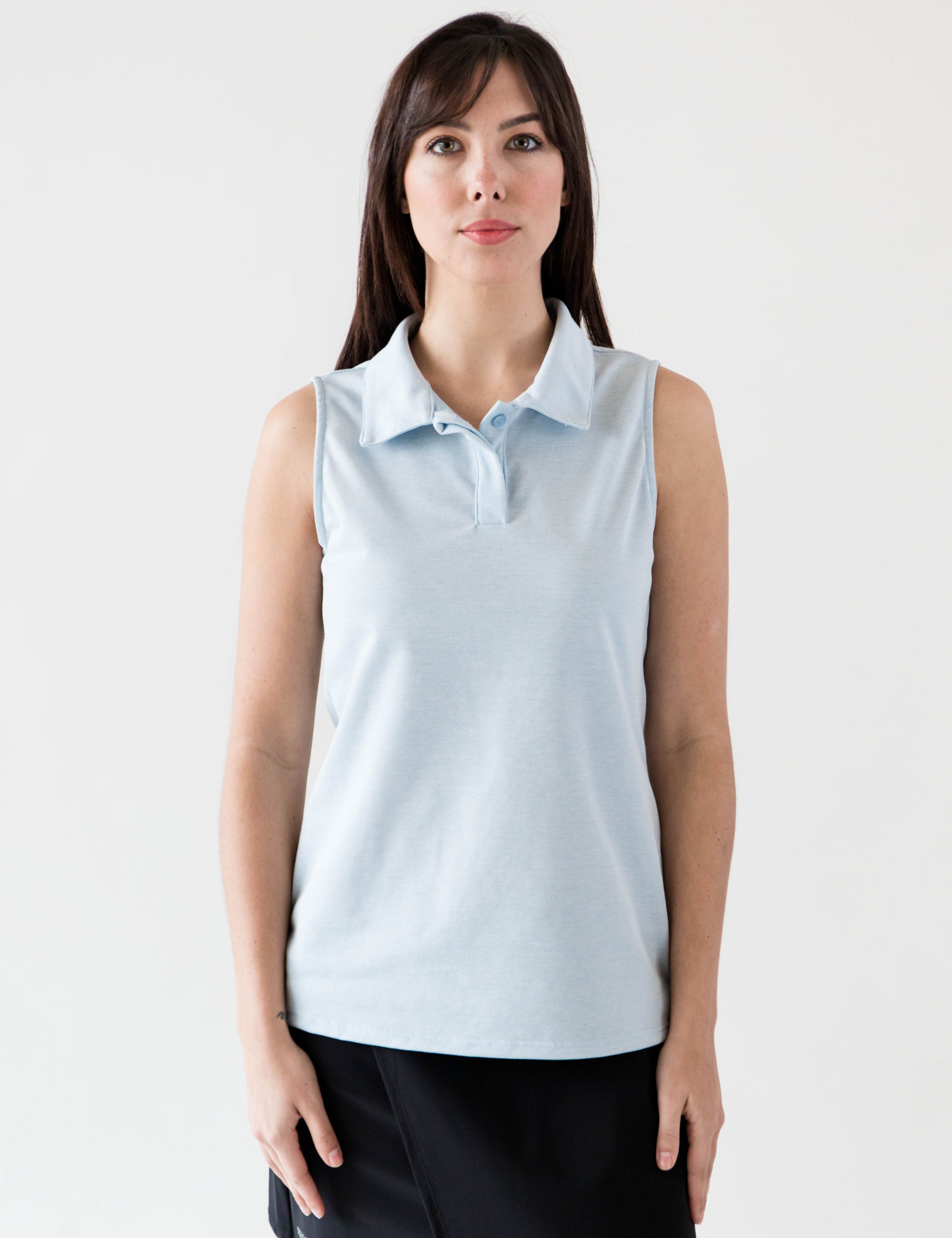 80890f4b Sleeveless Ladies Performance Polo-Clubs Golf Shirt. The cotton-poly-pique  fabric