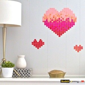 Learn how to create this Valentine's Day wall art project!#ScotchStyle
