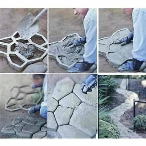 Forma molde piso concreto jardim lajota aluminio 40x40x4 - Moldes de cemento ...