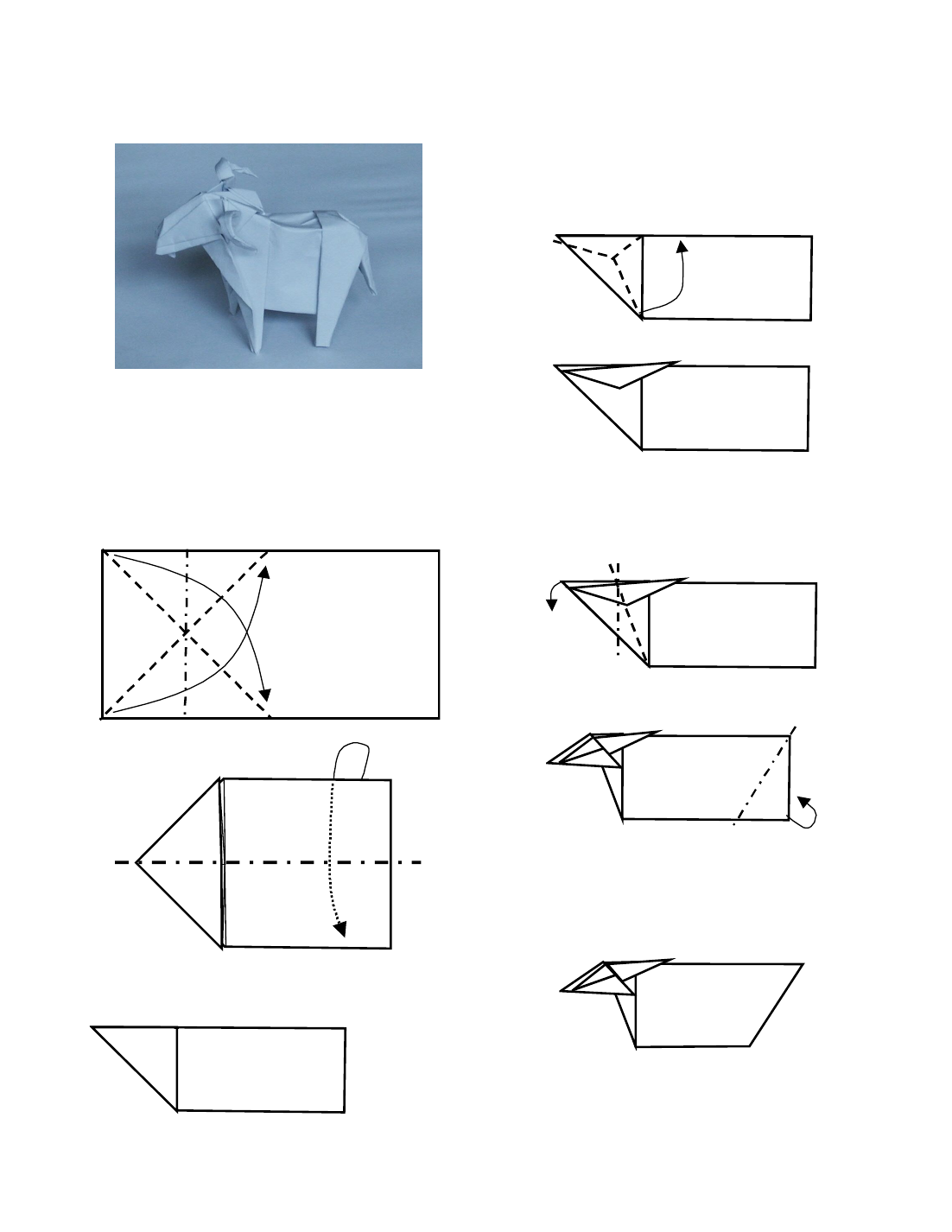 Origami goat malcolms 1st birthday party pinterest origami origami goat jeuxipadfo Choice Image