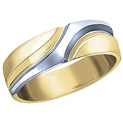 Ben Moss Jewellers Mens 10k TwoTone Gold Wedding Band 649 and