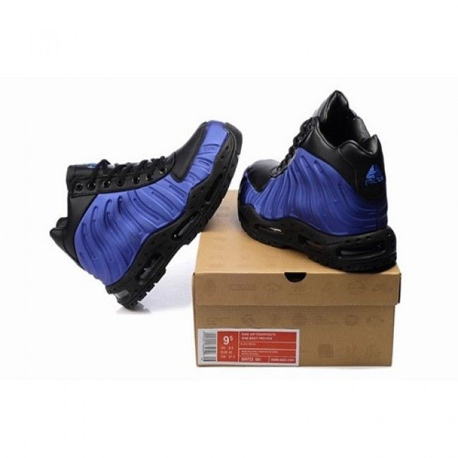 uk availability 303bc 53532 Black Nike Boots for Men   For Sale Nike ACG Air Foamposite Men Boots  Black Blue Sapphire 1014