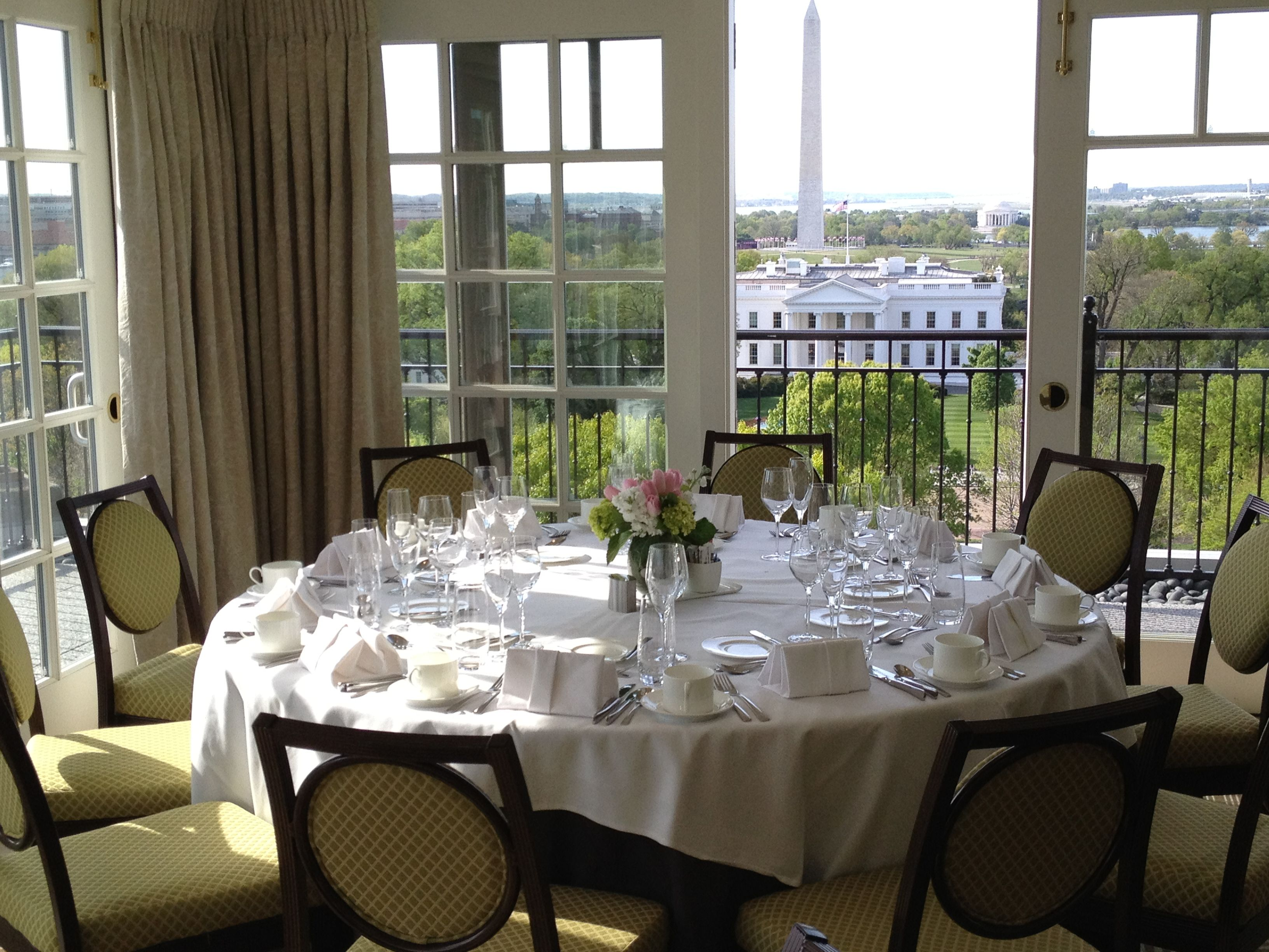 Easter brunch at the top of the hay at the hay adams hotel for Best private dining rooms washington dc