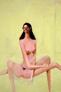 """George Condo, Spiderwoman, 2002, oil on canvas, 96 x 80""""."""